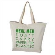 torba ekologiczna, płócienna z zielonym napisem