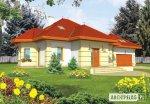 Dom na działkę z wjazdem od południa, zachodu i narożną projekt Donna